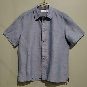 NAUTICA Men's Linen/Cotton Blend Shirt